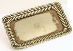 Antique Signed Silver Soldered Engraved Nyc New York City Hotel Tray