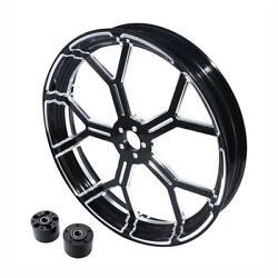 18and039and039 X 3.5and039and039 Front Wheel Rim Dual Disc Hub Fit For Harley Road King Glide 08-21
