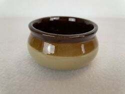 Vintage 1970s Clay Finger Bowl Brown And Tan Small Red Clay Bowl
