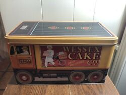 Vintage 1991wessex Cake Co Large Storage Tin The Silver Crane Co. England