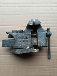 """Vintage Sears 3 1/2"""" Bench Vise Swivels 506-51770 Made In Usa"""