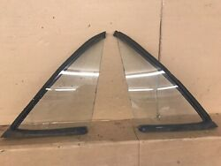 Rare Amc 1968 69 70 Amx Left And Right Quarter Glass Window And Gaskets Set Oem