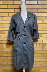 Vintage Dress Betsy's Things Button Up Shirt Dress Gray Size 5 Read Sizing