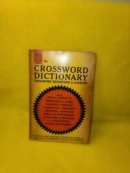 Dell Purse Book Vintage 1964 Crossword Dictionary By Kathleen Rafferty