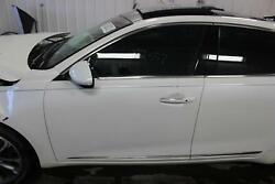 2017 19 Kia Cadenza Driver Side Front Door Acoustic Glass Painted Snow White