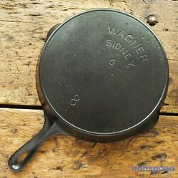 Antique Wagner Ware Cast Iron Skillet Frying Pan 8 Sidney - O - Ironspoon