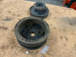 67 72 Chevy C10 Truck A/c Crank And Water Pump Pulleys 350 V8 307 327 1972 1971