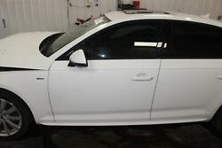 2017 Audi A4 Sedan Driver Left Painted Ibis White Front Door Laminated Glass