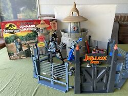Jurassic Park 1993 Command Compound Playset W/box 98 Complete, Working, Extras