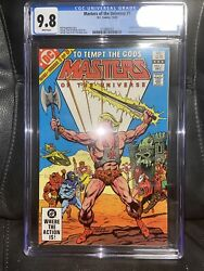1982 Dc Comics Masters Of The Universe 1 Cgc 9.8 He-man White Pages