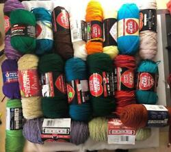 Huge Lot Of Red Heart Yarn 20 Skeins All Have Wrappers On Them