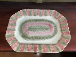 Staffordshire Spatterware Spatter Platter Red And Green Ca. 1830