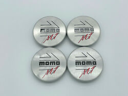 Momo M1 Centre Caps Black And Red On Silver Set Of 4 For Momo Wheels 50mm