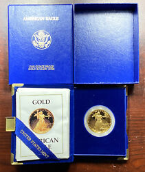1990-w American Gold Eagle Proof 1 Oz 50 Key Date Coin Rare Ogp