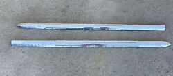 1951-1952 Ford Truck F6 Hood Trim Spears Stainless Steel Factory Originals