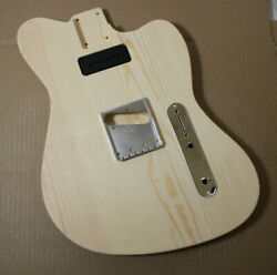 Guitar Body, Unfinished Pine Routed For A P-90/soapbar Neck Pickup, Made In Usa