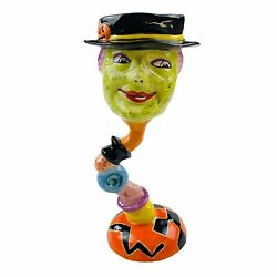 Rare Dept. 56 Halloween Witch Collectable Mug Cup Goblet Decoration Candy Holder