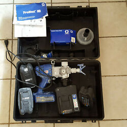 Graco Paint Sprayer Proshot Hd With 3 28v Batteries And Charger + Extras In Case