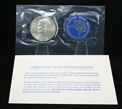 1972 Eisenhower Uncirculated Silver Dollar In Original Government Packaging B