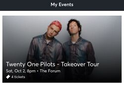 Twenty One Pilots 4 Tickets The Forum La Oct.2 Floor General Admission Sold Out