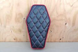 16 Coffin Black/red Old School Style Minibike Seat Scooter Mini Bike Rupp Taco