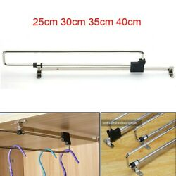 Chrome Plated Pull-out Clothes Hanger Trouser Rack Extending Storage Organiser