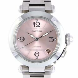 Auth Watch Pasha C W31075m7 Pink Sun Ray Dial Stainless Steel Automatic
