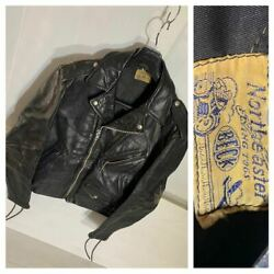 Vintage 40-50's Beck 999 One Star Leather Double Riders Jacket Mens L Size 42