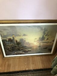 """Authentic 1998 Thomas Kinkade """"the Sea Of Tranquility"""" Art With Authenticity"""