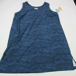 Columbia Casual Dress Sleeveless Blue Patterned Womens Size 2x Tall New Tags