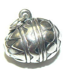 James Avery Retired 3-d Solid Egg Charm 4.14 Grams Sterling Silver