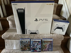Sony Ps5 Blu-ray Edition Console Gamers Bundle - White