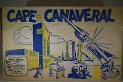 Rare Marx Atomic Cape Canaveral Missile Base Playset W/ Box 1950s
