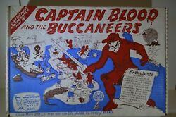Rare Vintage Marx Toys Captain Blood The Buccaneers Playset W/box Pirate