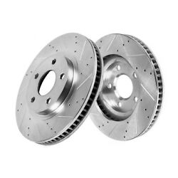 Front Drill Slot Brake Rotors For Acura 04-08 Tl Base 07-08 Tl Type-s Tls Type S