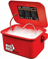 Big Red Portable Steel Cabinet Parts Washer With 110v Electric Pump