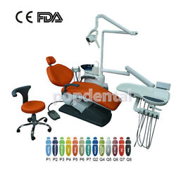 Dental Chair Unit Hard Leather Computer Controlled With Stool Red Ocean Shipping