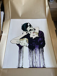 Dface Bend Embrace Signed Print /135 Dface Sold Out Mint Stored Flat