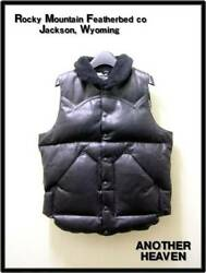 Used Rocky Mountain Another Heaven Leather Down Vest Black M Size 38 Only100