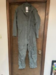 Coveralls Flyers Summer Fire Resistant Cwu 27/p Size 44s Green Usaf