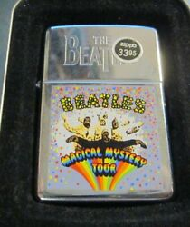 Vintage 1997 The Beatles Magical Mystery Tour Zippo Lighter New In Tin