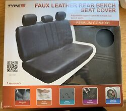 Winplus Type S Faux Leather Rear Seat Cover With Adjustable Zipper Universal