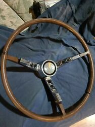 1963 Ford Falcon Sprint Wood Simulated Steering Wheel Only No Chrome Ring