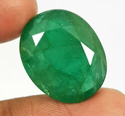 22.23 Ct Natural Emerald Top Quality Rich Green Zambia Big Size Oval Cut Gems