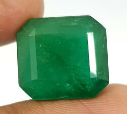 22.33 Ct Natural Square Shape Top Emerald Zambia Big Size Good Lusted Gemstone