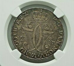 1776-hiab Norway Christian Vii Silver 1/2 Speciedaler Ngc Ms-61