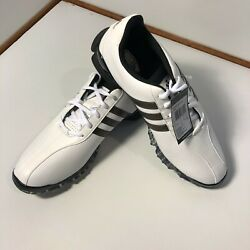 Adidas Powerband Grind White/bronze Brown Stripes Golf Shoes 8.5 New With Tag