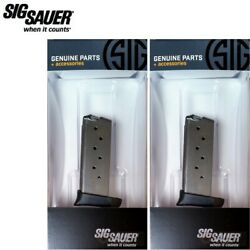 Two Sig Sauer P938 9mm 7 Round Magazines Mag-938-9-7 Fast Ship