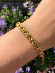 Antique Victorian 9ct Gold Woven Keeper Bangle