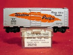 Kd 20210 Western Pacific 40' Box Car 20826 'rides Like A Feather' 'new' N-scale